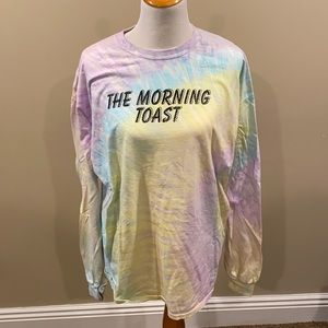 The morning toast tie dye long sleev